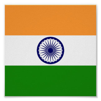Flag of India Poster11x11 Poster