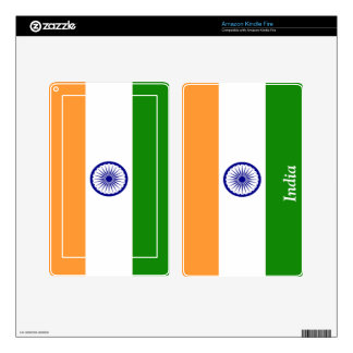 Flag of India Kindle Fire Decal