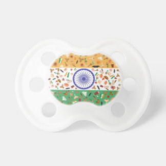 Flag of India with cultural items Pacifier