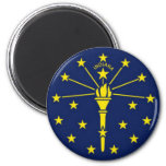 Flag of Indiana Refrigerator Magnets