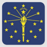 Flag of Indiana Sticker