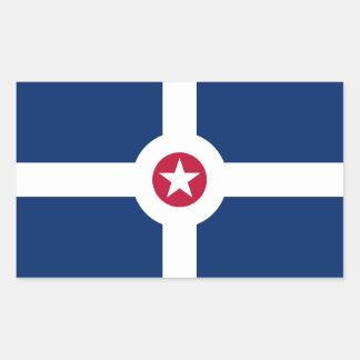 Flag of Indianapolis, Indiana Rectangular Sticker