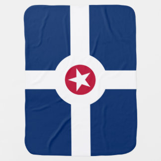 Flag of Indianapolis, Indiana Stroller Blanket