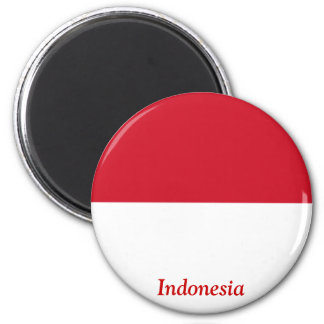 Flag of Indonesia 2 Inch Round Magnet