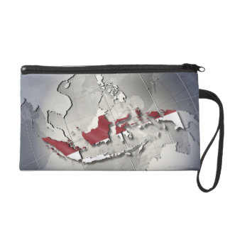 Flag of Indonesia Wristlet Clutches