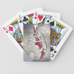 Flag of Indonesia Bicycle Poker Cards