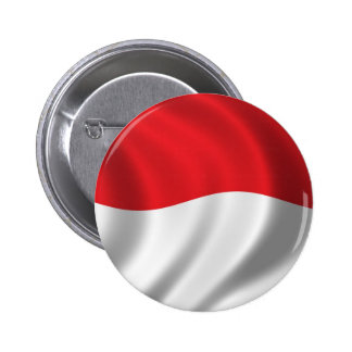 Flag of Indonesia Pinback Button