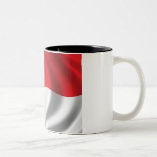 Flag of Indonesia Two-Tone Coffee Mug