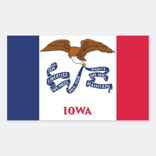 Flag of Iowa Rectangular Sticker