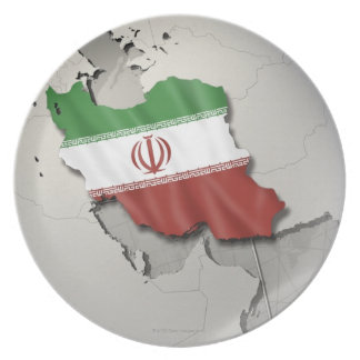 Flag of Iran Party Plates