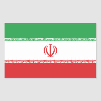 Flag Of Iran Rectangular Sticker