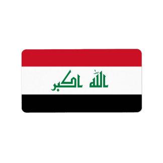 Flag of Iraq Labels