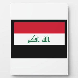 FLAG OF IRAQ DISPLAY PLAQUES