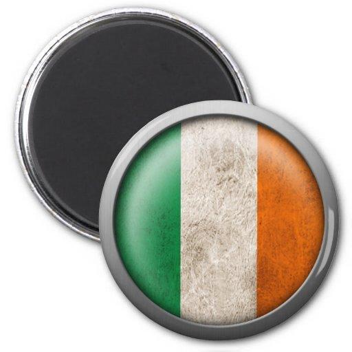 Flag of Ireland Disc Refrigerator Magnet