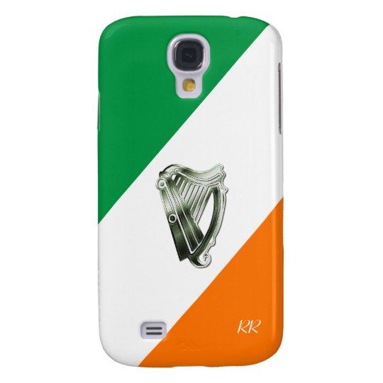 Flag of Ireland Green Chrome Harp Galaxy S4 Samsung Galaxy S4 Case