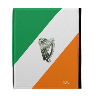 Flag of Ireland Green Chrome Harp iPad Case