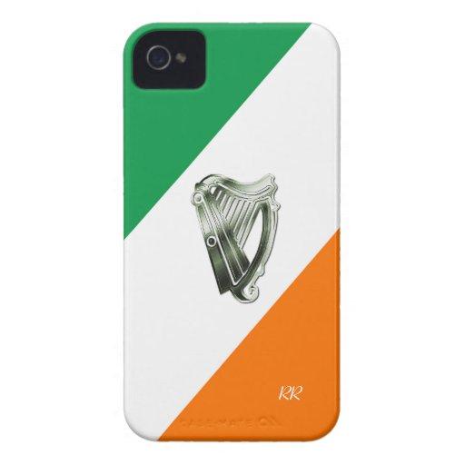 Flag of Ireland Green Chrome Harp iPhone 4/4S Case