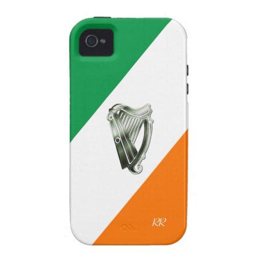 Flag of Ireland Green Chrome Harp iPhone 4/4S Vibe iPhone 4/4S Case