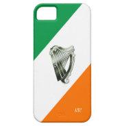 Flag of Ireland Green Chrome Harp iPhone 5 Case at Zazzle