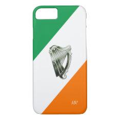 Flag Of Ireland Green Chrome Harp Iphone 8/7 Case at Zazzle