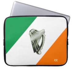 Flag Of Ireland Green Harp Neoprene Sleeve 15
