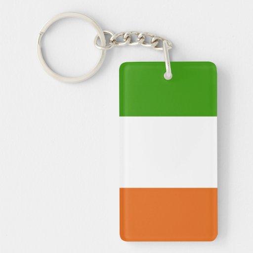 Flag of Ireland Rectangle Acrylic Key Chains