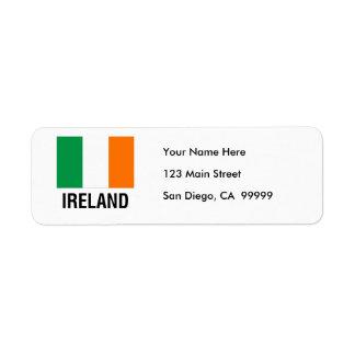 FLAG of IRELAND Label