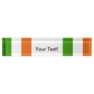 Flag of Ireland Name Plate