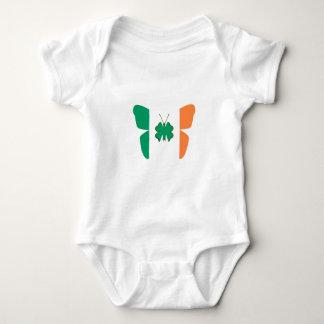 Flag of Ireland Shamrock Baby Bodysuit