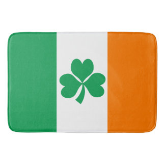 Flag of Ireland Shamrock Bath Mat