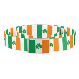 Flag of Ireland Shamrock Belt