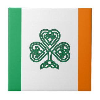 Flag of Ireland Shamrock  Custom Tile