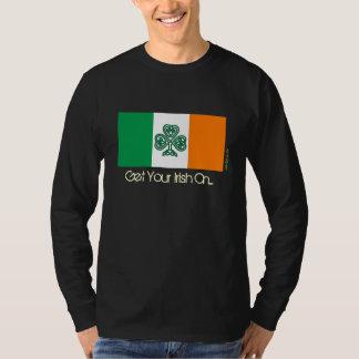Flag of Ireland Shamrock Tshirt