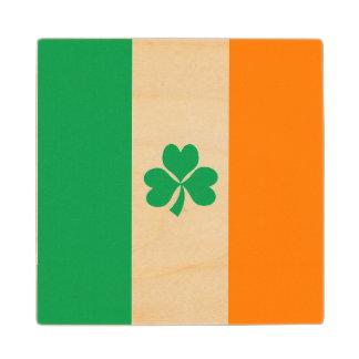 Flag of Ireland Shamrock Wooden Coaster