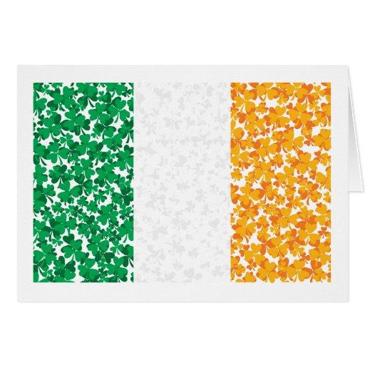 Flag of Ireland Shamrocks Greeting Cards