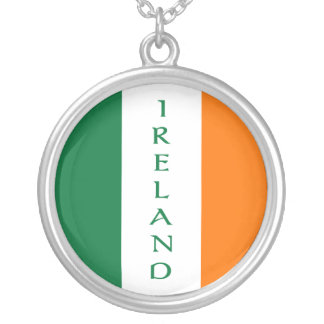 Flag of Ireland Silver Plated Necklace