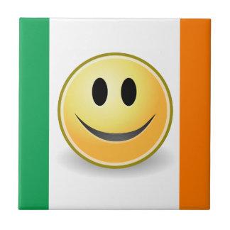 Flag of Ireland Smiley Face Custom Tile