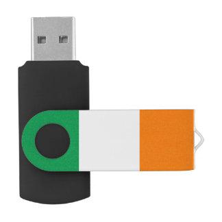 Flag of Ireland Swivel USB 2.0 Flash Drive