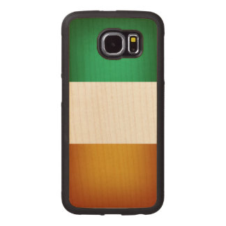 Flag of Ireland Wood Phone Case
