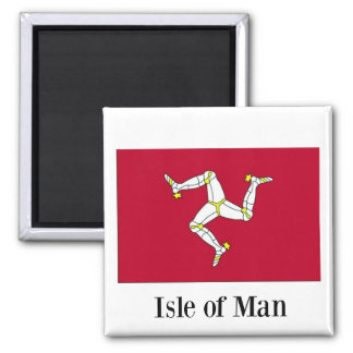 Flag of Isle of Man 2 Inch Square Magnet