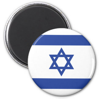 Flag of Israel 2 Inch Round Magnet