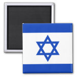 Flag of Israel 2 Inch Square Magnet