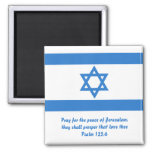 Flag of Israel, 2 Inch Square Magnet