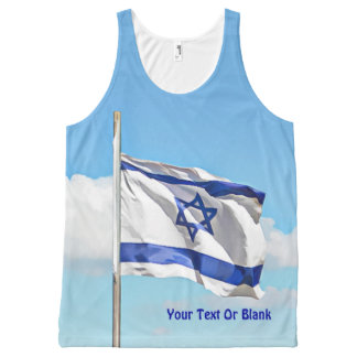 Flag Of Israel All-Over-Print Tank Top