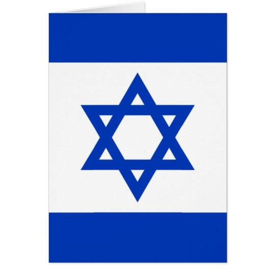 Flag of Israel Card