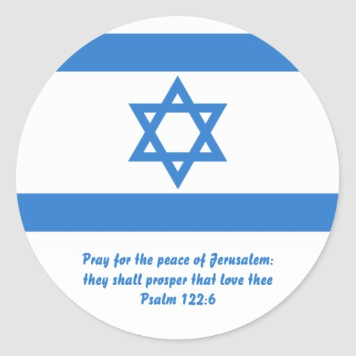 Flag of Israel, Classic Round Sticker
