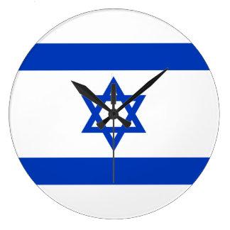 Flag of Israel Clock