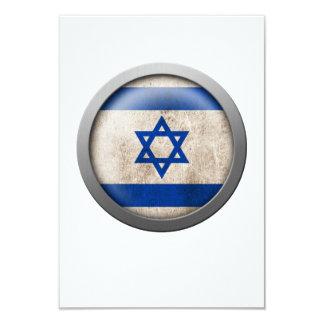 "Flag of Israel Disc 3.5"" X 5"" Invitation Card"