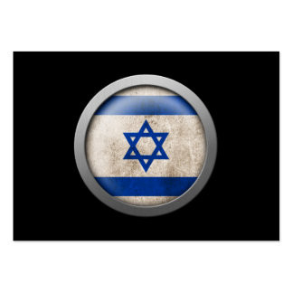 Flag of Israel Disc Large Business Card