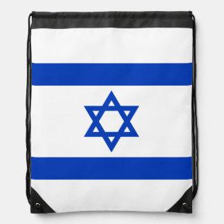 Flag of Israel Drawstring Bags